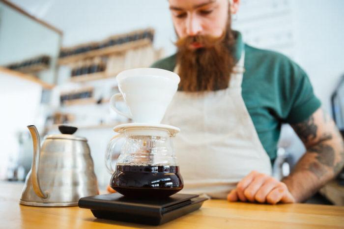Kaffeewasser aufgießen