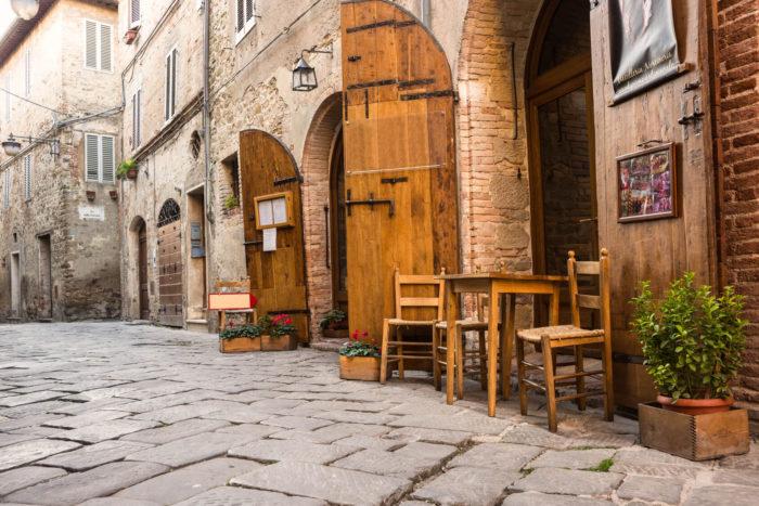 italienisches Straßencafe
