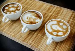 Kaffee mit Latte Art