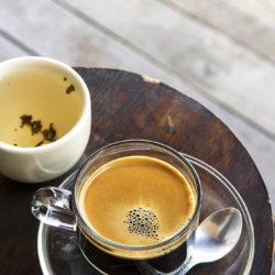 Crema auf dem Kaffee