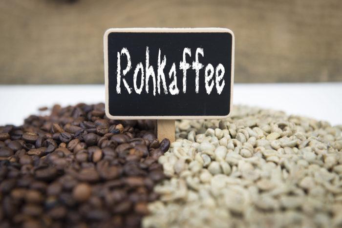 Rohkaffee Bohnen zum Rsten