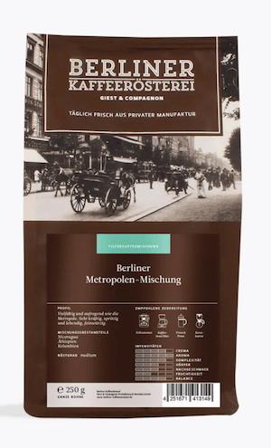 Berliner Kaffeerösterei Berliner Metropolenmischung