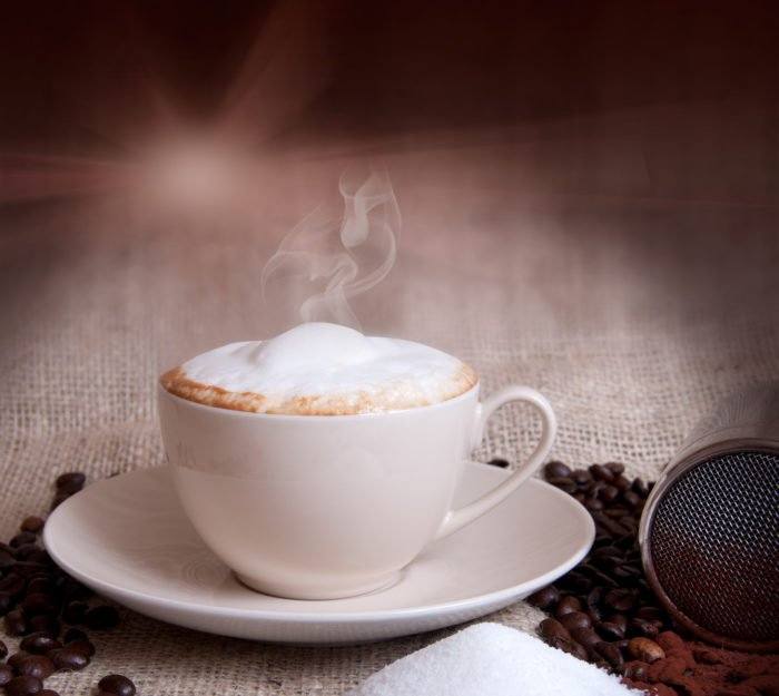 Heißer Cappuccino