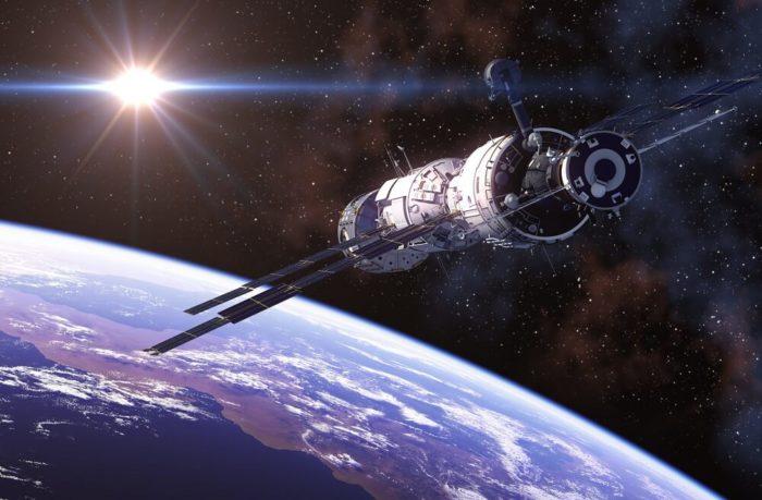 Astronauten-Weltall-Raumschiff
