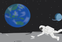 Astronauten-Weltall-kaffeetasse