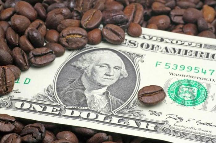 Spekulationsgeschäft-kaffee-Kaffeebohnen-us-dollar