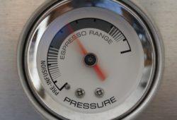 Druckanzeige einer espressomaschine
