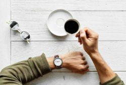 Kaffee trinken Zeit