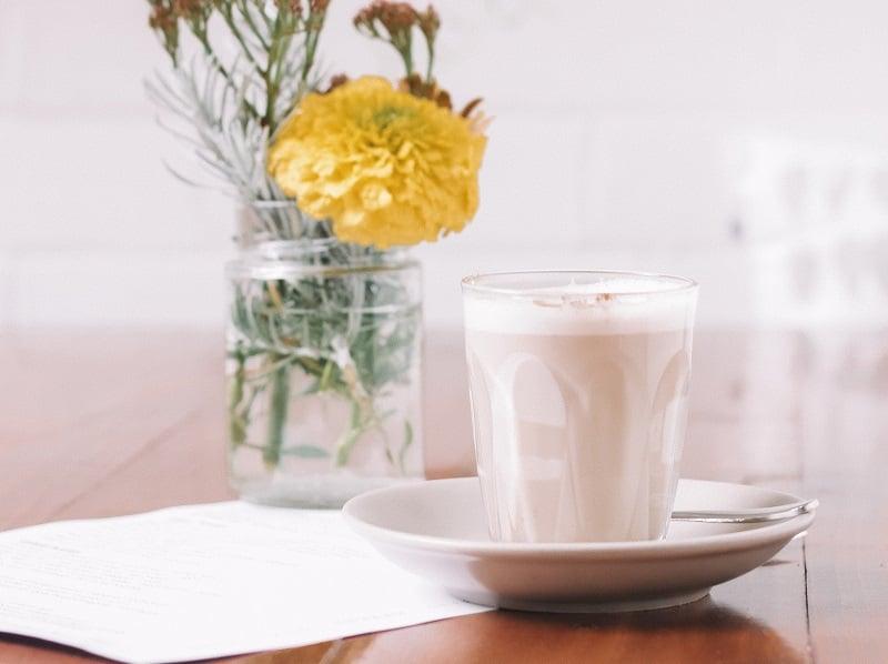 Chai Latte im Glas