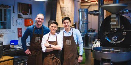 Das Team von 84 Coffee