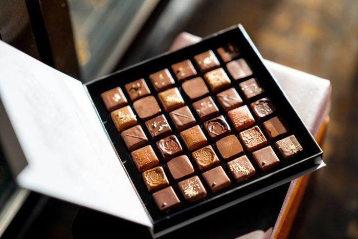 Pralinen aus Vollmilchschokolade