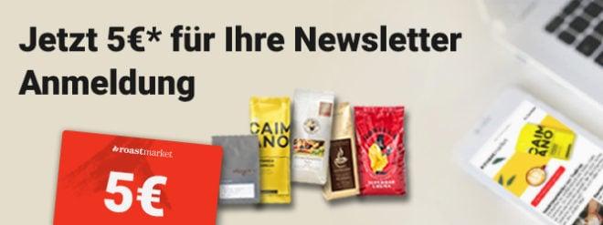 roastmarket Newsletter Anmeldung