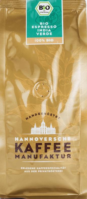 Hannoversche Kaffeemanufaktur Bio Espresso India Verde