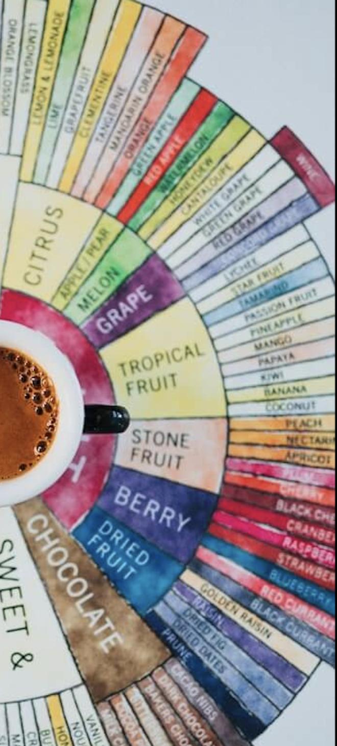 Kaffee Aromarad innerer Kreis