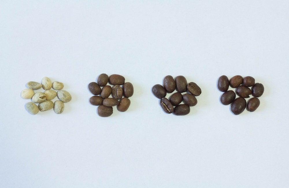 Kaffeebohnen mit verschiedenen Aromen