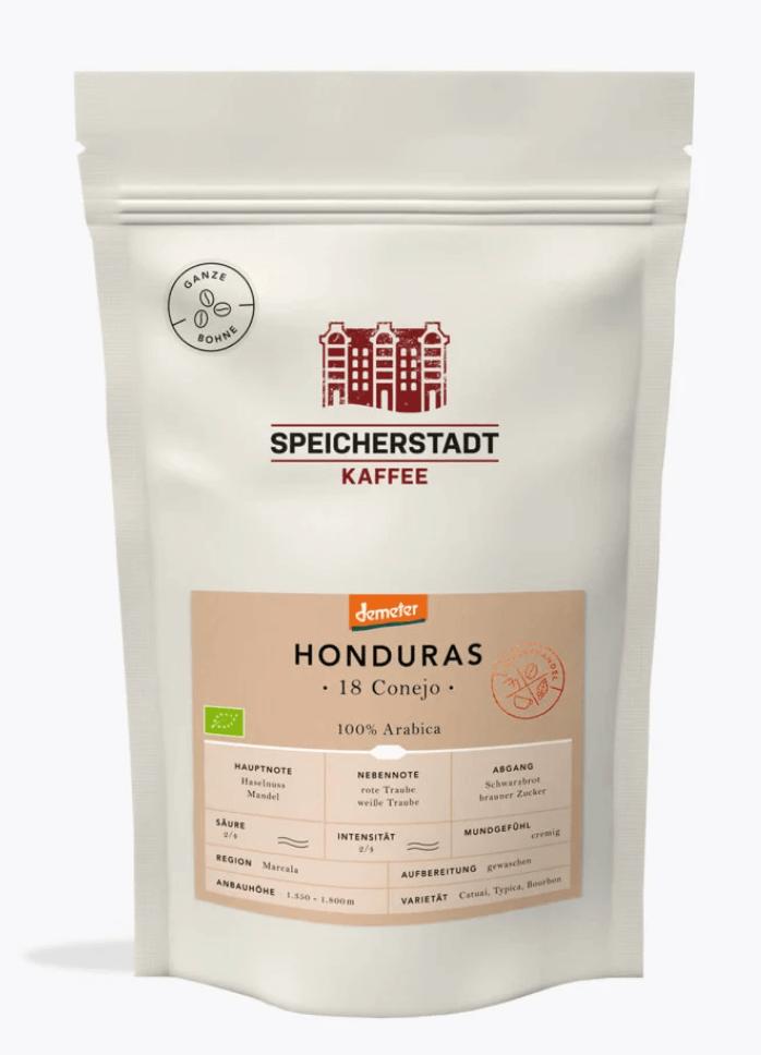 Speicherstadt Honduras 18 Conejo Bio Demeter Kaffee
