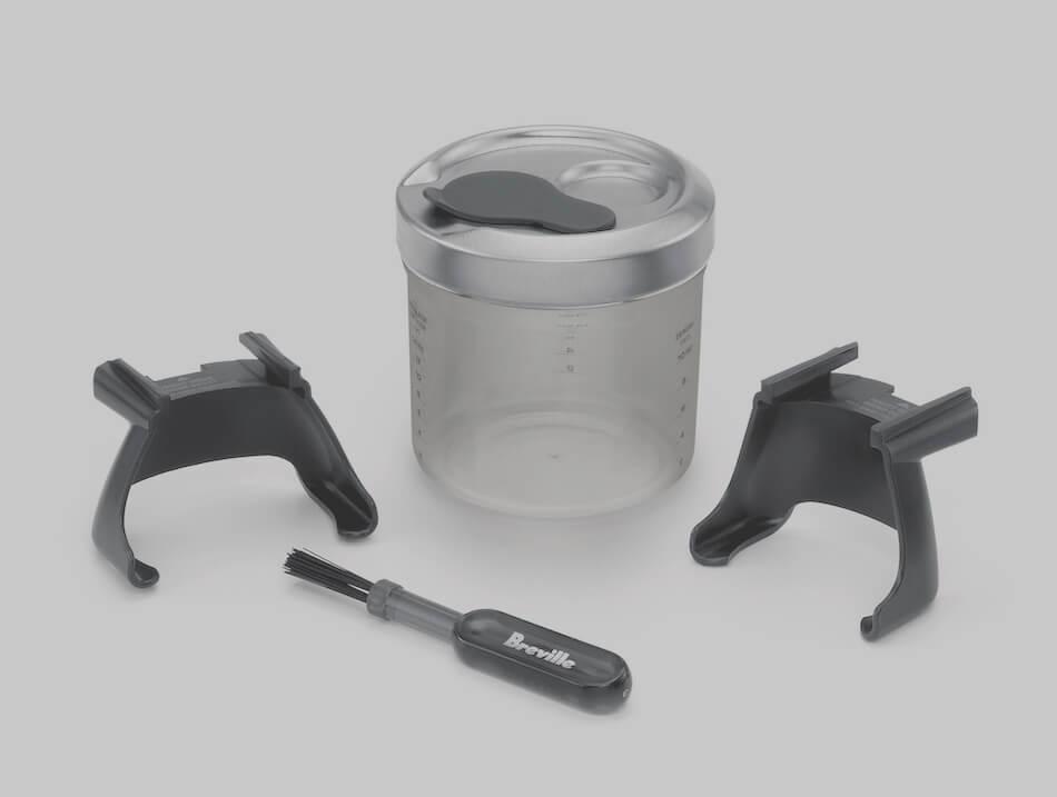 Sage Smart Grinder Pro Mühle mit Siebträgerhaltern, Pinsel und Mahlbehälter