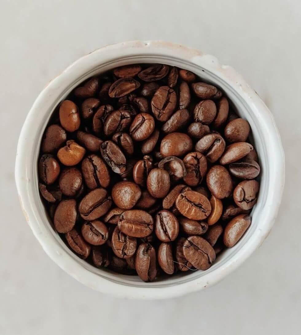 Arabica Espressobohnen im Glas