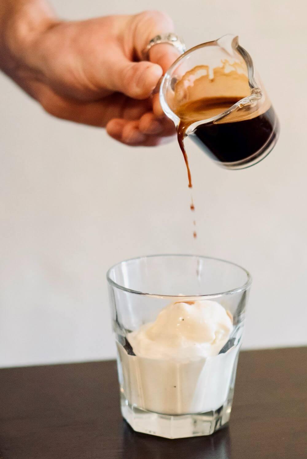 Eiskaffee mit Eiscreme