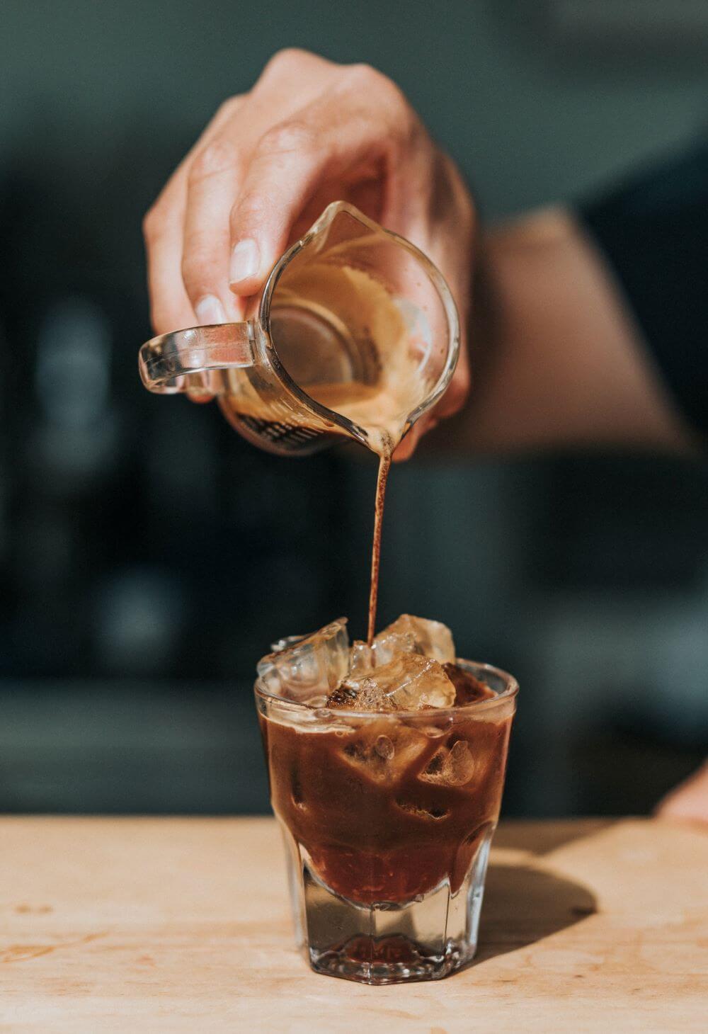 Espresso für Eiskaffee