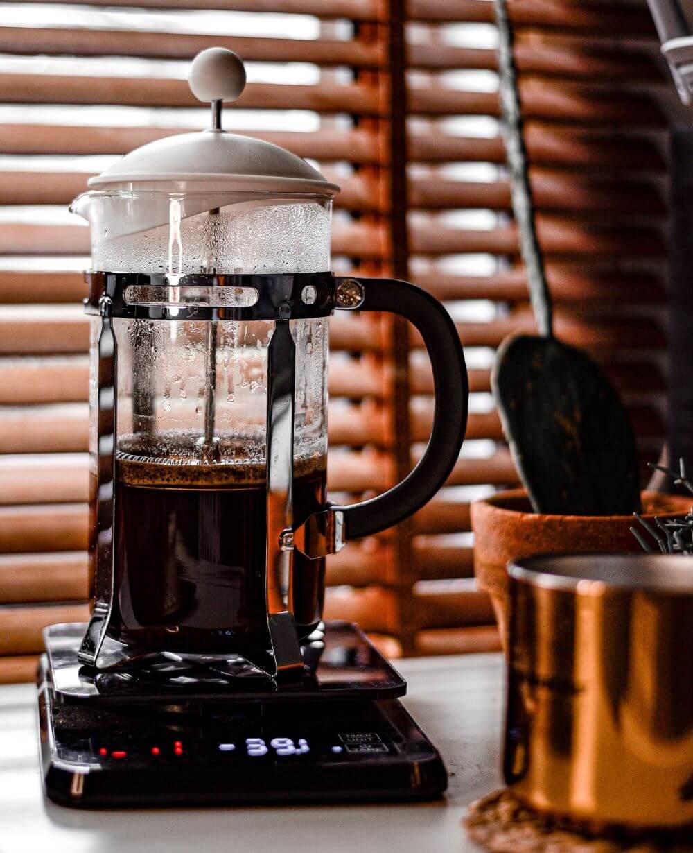 French Press Kaffee in Kanne