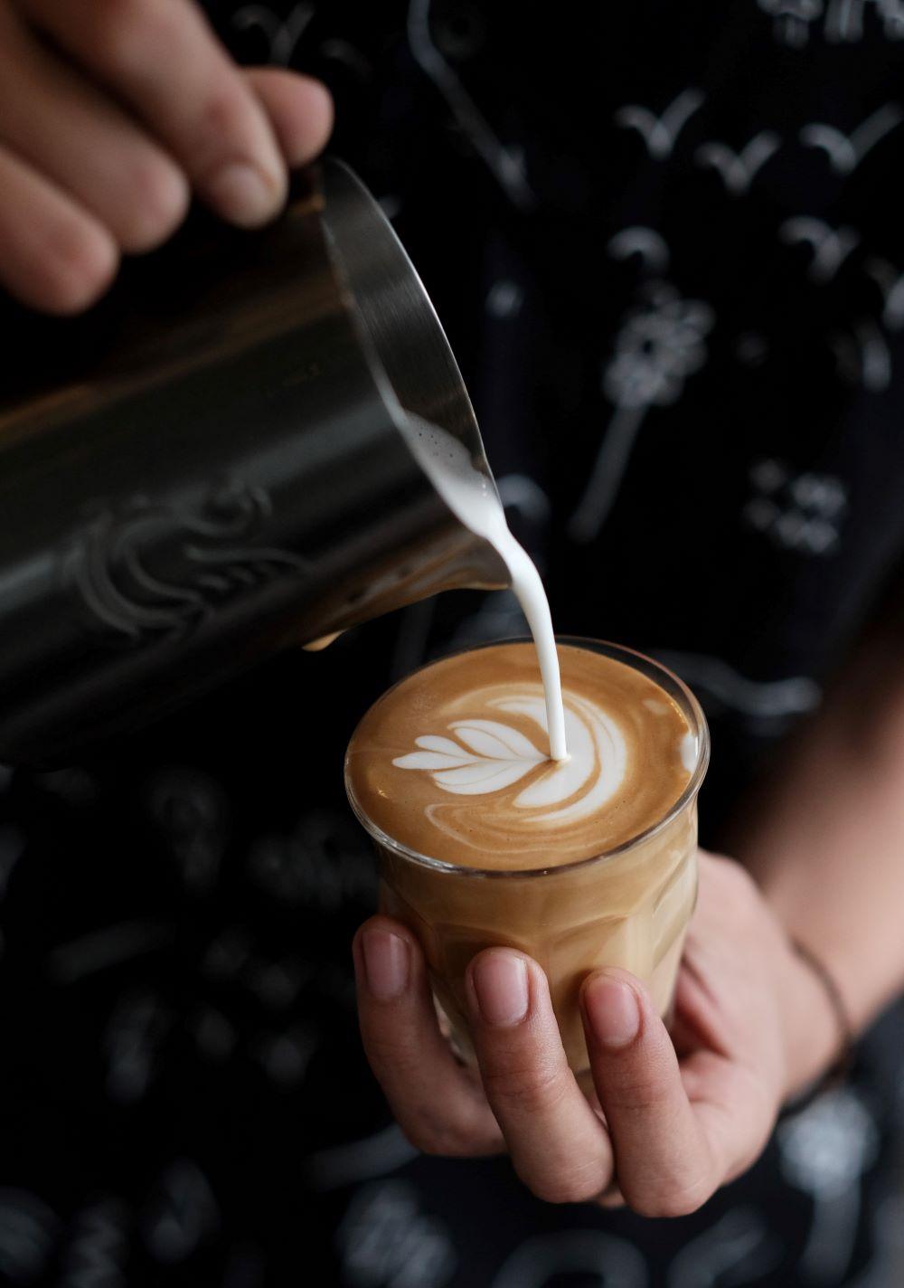 Latte Art mit Latte Macchiato