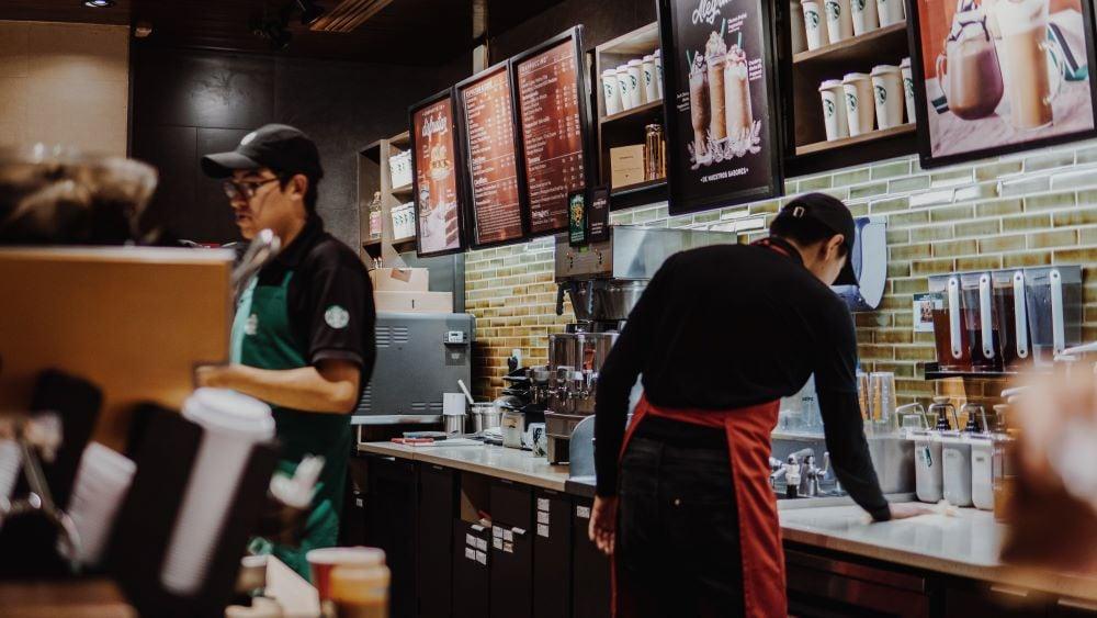 White Chocolate Mocha bei Starbucks