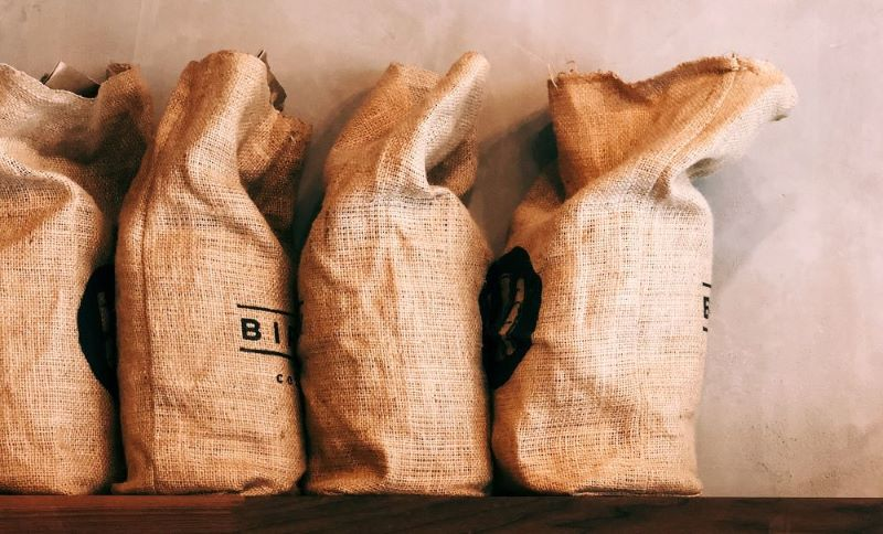 Yirgacheffe Kaffee in Säcken