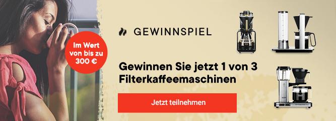 Newsletter Gewinnspiel Banner Filterkaffeemschinen