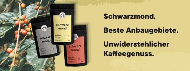Schwarzmond Kaffeebohnen für Kaffee Americano