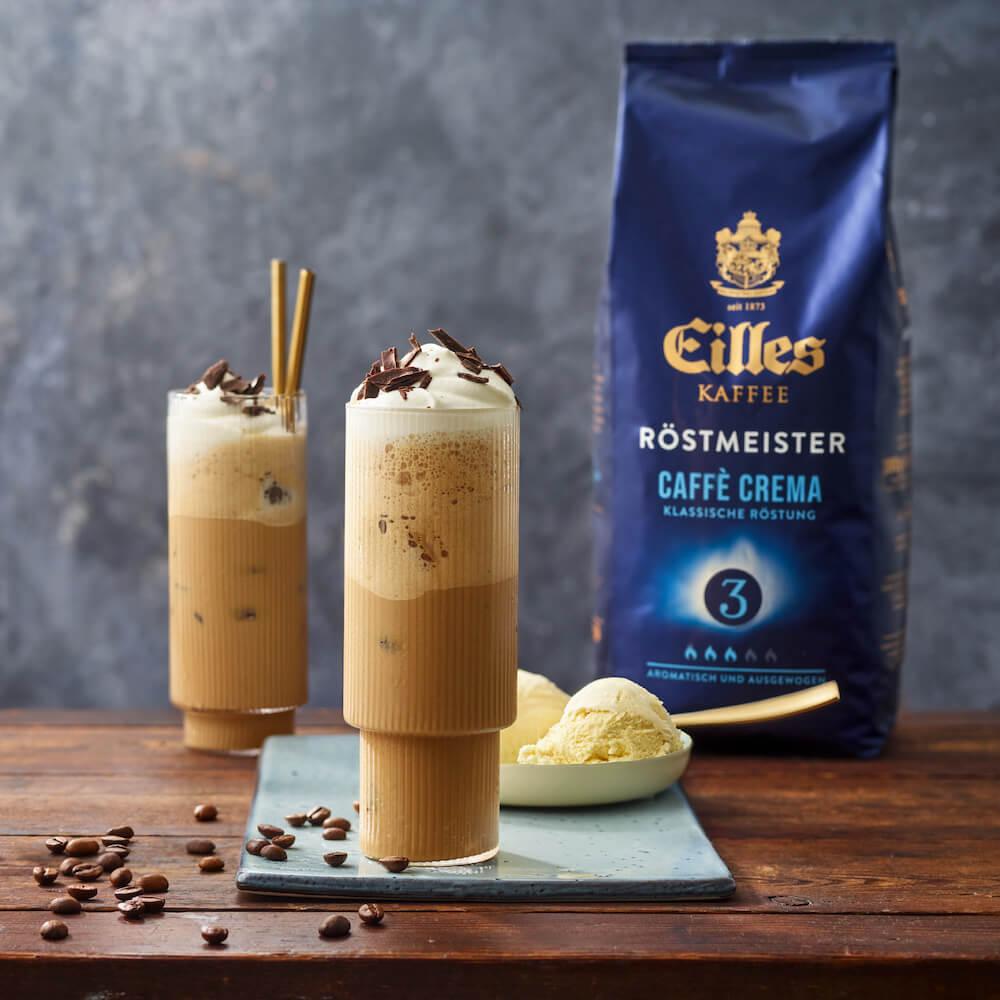 Eilles Röstmeister Kaffee Caffe Crema als Vanille Eiskaffee